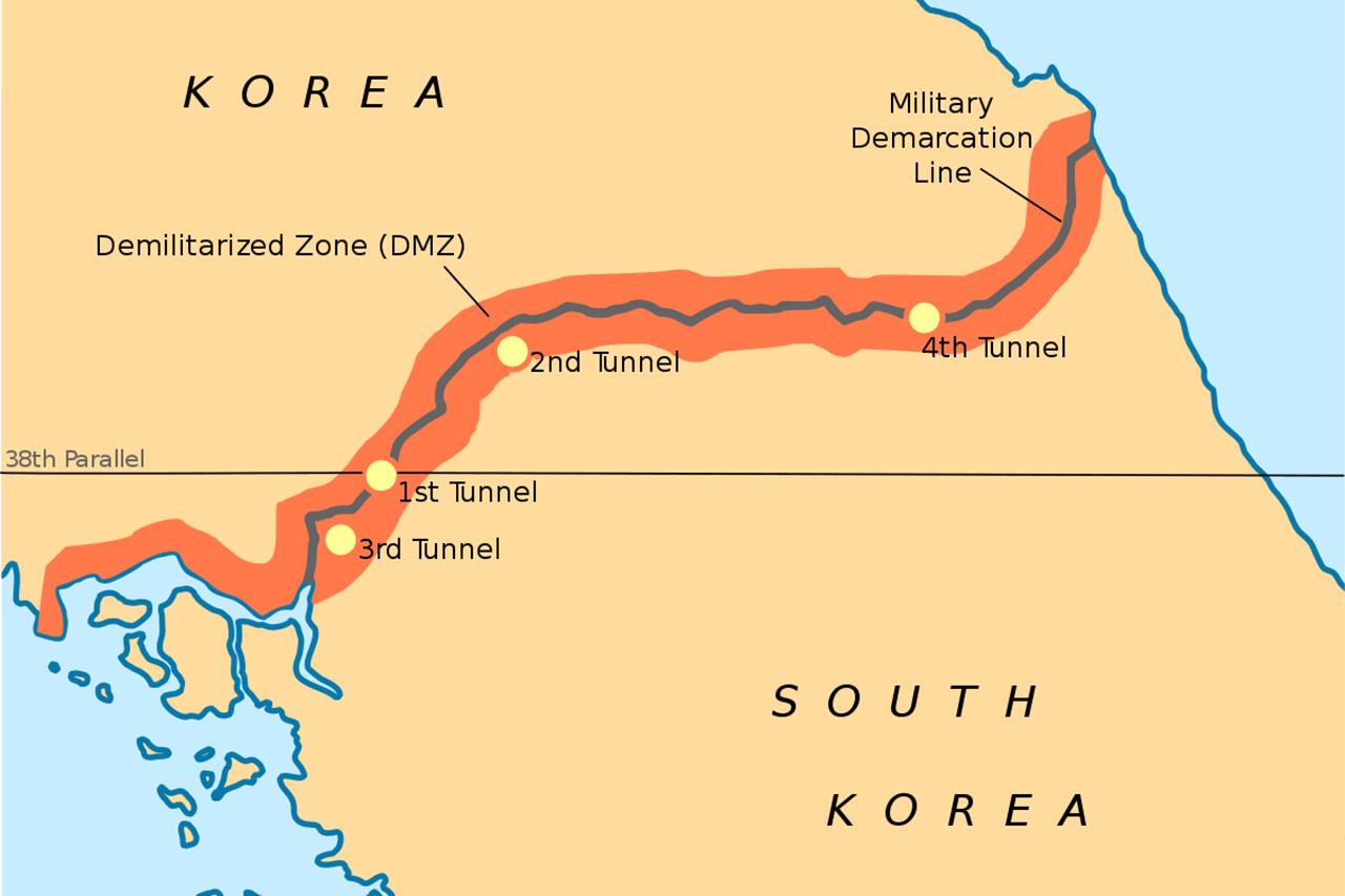 Корея разделилась на Северную и Южную